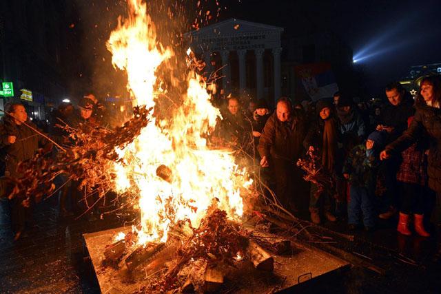 Szerb ortodox karácsony Szabadkán